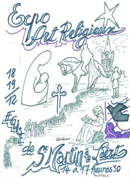 Exposition d'art sacré à saint martin-au-laërt