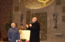 Mgr Jaeger et Chistiane Deguffroy