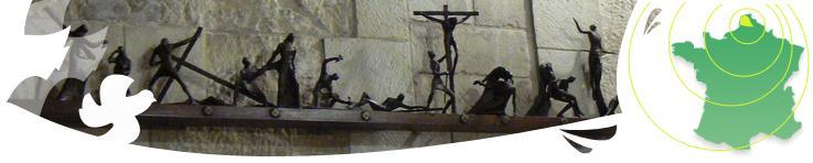 Chemin de Croix, église de la résurrection, chez les Franciscains