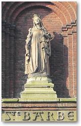 Statue de Ste Barbe à Noeux Ste Barbe