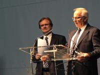 Mr Marcel Debove (Directeur du 1er degré) et Mr Jean-Bernard Courbois (Directeur du 2d degré)