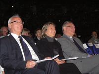 Mr Courbois, Mme Natacha Bouchard maire Mgr jaeger