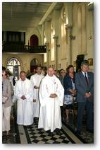 Messe du départ de Roland Delplanque (26 juin 2011) -Procession d'entrée