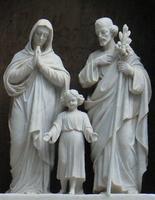 représentation traditionnelle de la sainte famille. A Nazareth