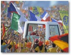 Arrivée du Pape