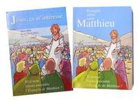 Exemplaire d'étude de l'Evangile selon St Matthieu et brochure de présentation