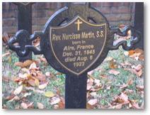 La tombe de Narcisse MARTIN à Baltimore