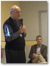 Mgr Jaeger et Benoit Scache, Econome Diocésain