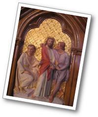 Détail d'une des stations du chemin de croix (église St Sébastien de Maisnil les Ruitz)