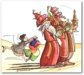 Les Mages arrivent accompagnés de Raïcha