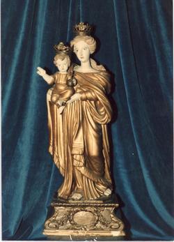 Noeux Les Mines, église St Martin, statue de Notre Dame de Noeux