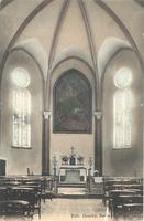 Noeux les Mines, église St Martin - premières restaurations après le bombardement. L'autel est celui de la grotte de ND de Lourdes qui se trouvait au fond de l'église