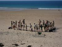 scouts unitaires de France en camp