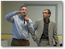 Benoit Scache, économe diocésain et Sylvain Peugnet du Cabinet Fort