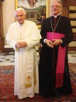 Benoit XVI et Mgr Jean-Paul Jaeger