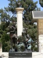 Bronze dans la cour de la maison de Caïphe
