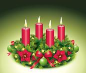 Vierter Advent / Adventskranz