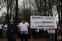 cercle de silence-Calais 28.11.2012