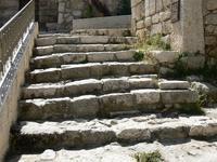 escalier entre Oliveirs et maison de Caïphe