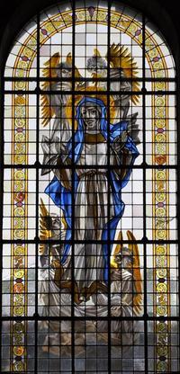 Vitrail de l'Assomption de la Vierge