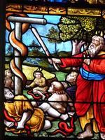 Moïse et le serpent exposé