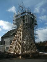 Estrée-Pose charpente du clocher