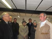 Visite de J.Paul Jaeger à la ferme Delmotte à Laventie. Dans le magasin.