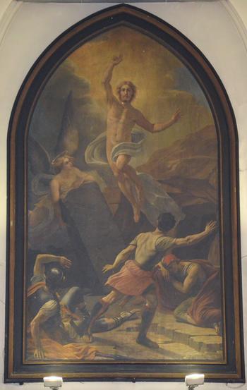 Noeux les Mines, église St Martin, tableau de la Résurrection (choeur)