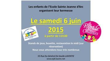 invitation Kermesse de l'école Ste jeanne d'arc