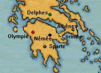 Carte Athenes Delphes