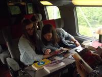 Livrets dans le train