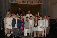 1ères communions à St Eloi en béthunois, 5 juin 20