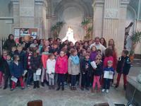 Les pelerins avec Notre Dame du Grand Retour
