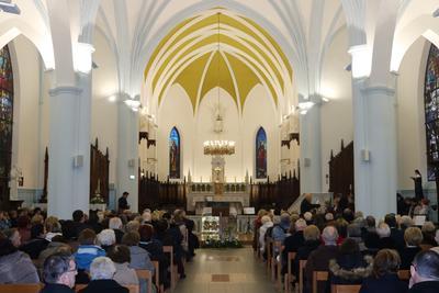 Réception des travaux à l'église Saint-Martin.