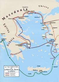Carte Paul Mer Egée