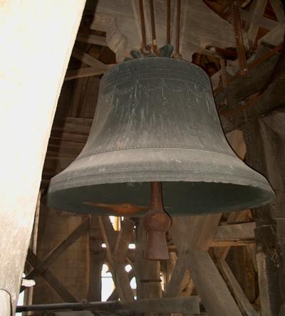 L'une des cloches actuelles de Saint-Omer.