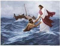 jesus sur l'eau