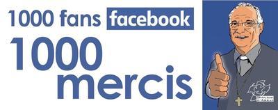 Manchette Facebook Merci 1000 fans