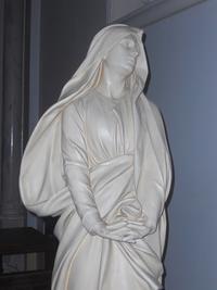 Noeux les Mines, église St Martin, calvaire, statue de Marie