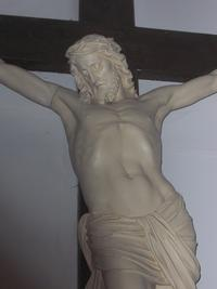 Noeux les Mines, église St Martin, calvaire, Christ en croix