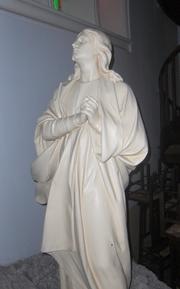 Noeux les Mines, église St Martin, calvaire, statue de St Jean