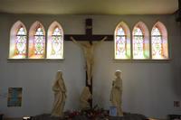 Noeux les Mines, église St Martin, calvaire, vue générale