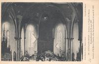 Noeux-les-Mines, église St Martin - juste après le bombardement. La désolation du choeur