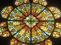 Noeux-les-Mines, église St Martin, grande rosace (transept droit)