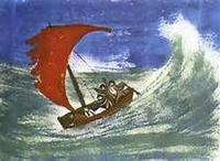 la barque et la vague