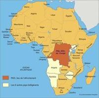 carte afrique congo
