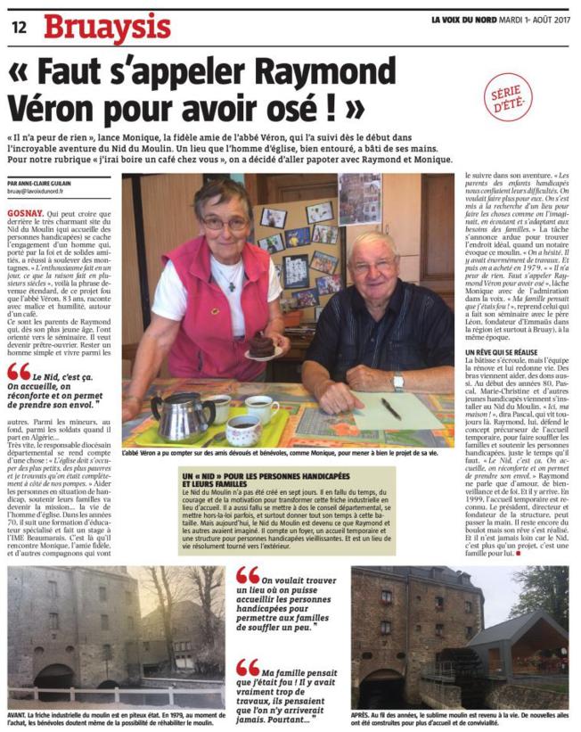 2017-8-1-La Voix du Nord Nid du Moulin Gosnay