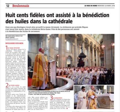 2018-3-28-La Voix du Nord Boulogne Messe chrismale