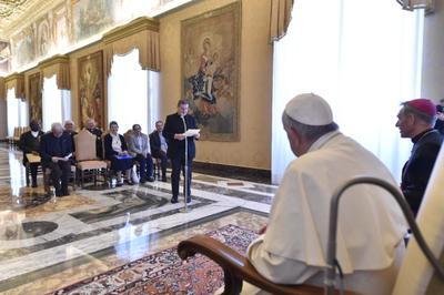 2018-4-7-Michel Delannoy recu par le pape Francois