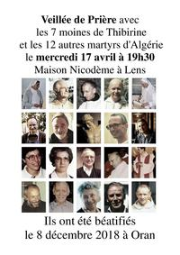 Invitation veillee priere martyrs d Algerie